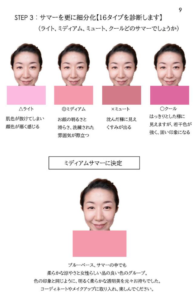 パーソナルカラー16タイプ別コスメ総合サイト「Color Catch」-PRO診断-お客様用解説シート10